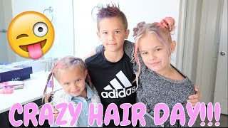 CRAZY HAIR DAY AT SCHOOL |THE LEROYS