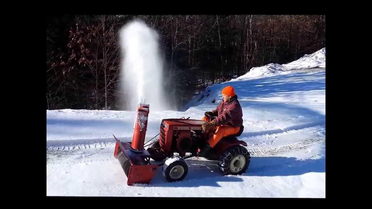 Wheel Horse Snow Blowers : Wheel horse snow blower youtube