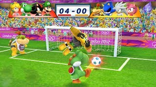Mario & Sonic At The London 2012 Olympic Games Football Luigi, Shadow, Yoshi and Peach