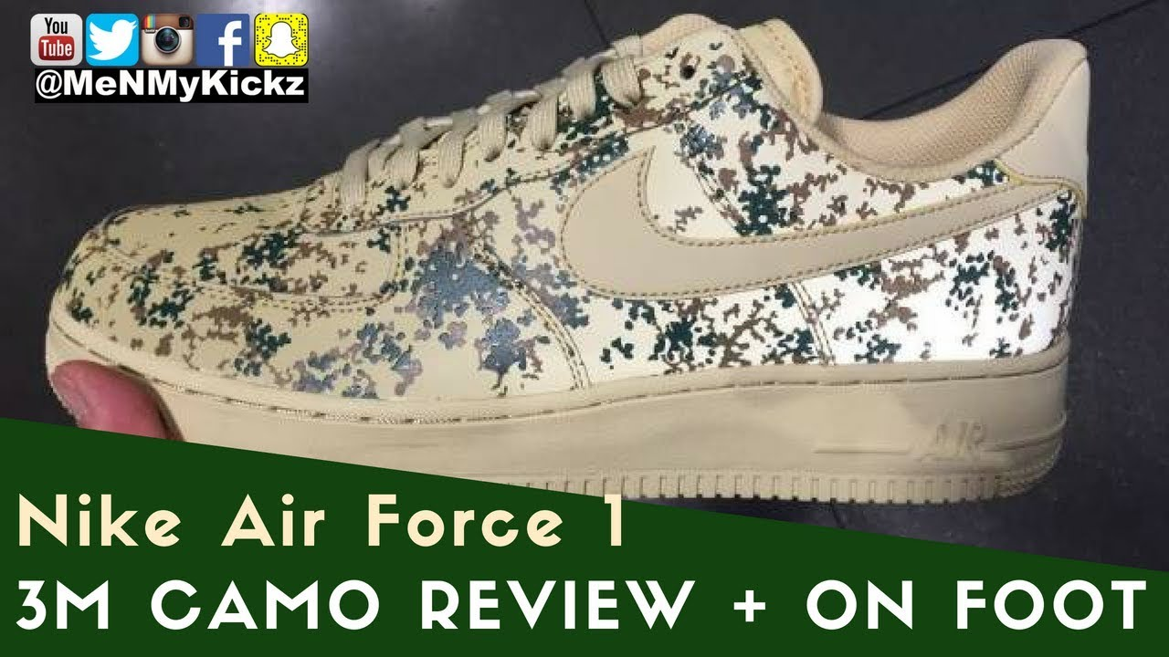 Nike Air Force 1 Low 3M Camo Detailed Review + On Foot Look I 3M Country Camo I #af1 #af1s #af1lows