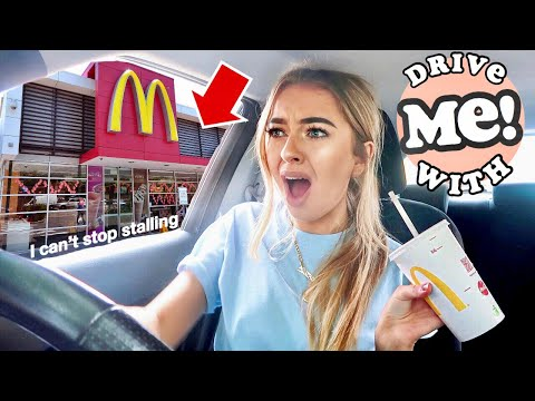 DRIVE WITH ME! First McDonald's DRIVE THROUGH and STALLING!