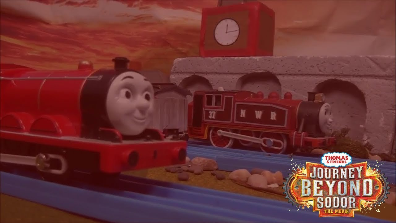 Rosie train coloring - Thomas Took James S Goods Train Red Rosie Journey Beyond Sodor