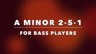 Jazz BASS Backing Track - Medium Swing 2-5-1 (Am)
