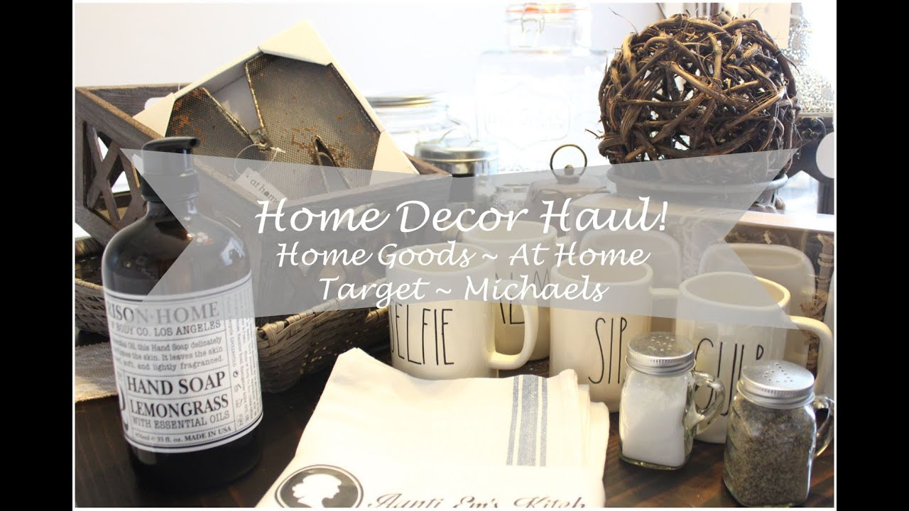 Home decor haul home goods at home target houseofmeis youtube Home decor home goods