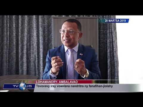 VAOVAO DU 28 MARS 2019 BY TV PLUS MADAGASCAR