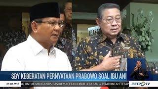 SBY Keberatan Pernyataan Prabowo Soal Pilihan Politik Ibu Ani