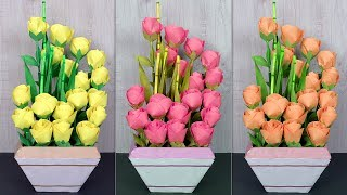Paper Flower Pot !!! DIY ROOM DECOR 2019