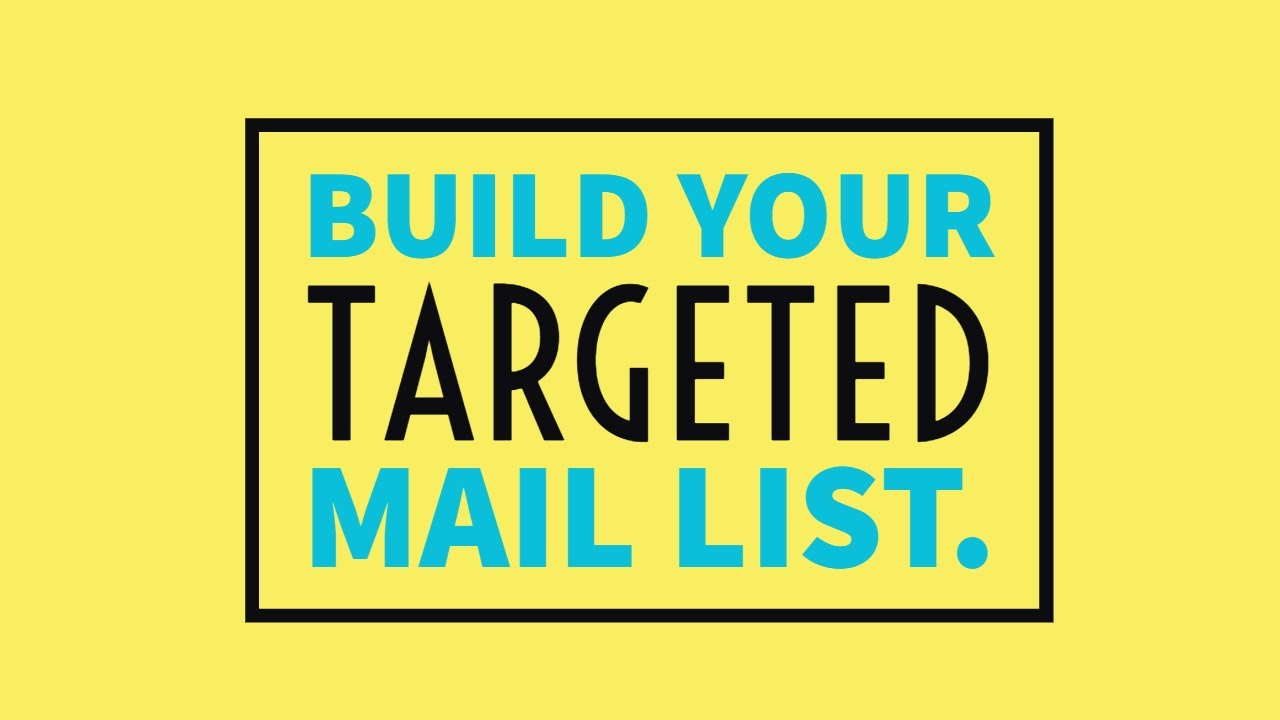Build your targeted mail list be a successful email marketer ...