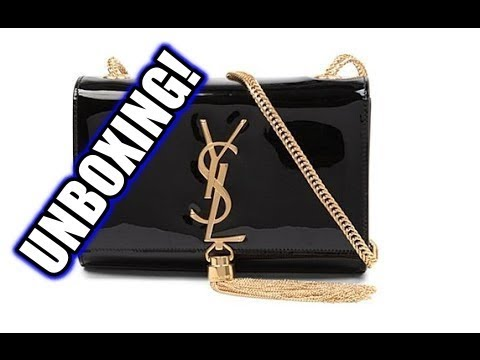 Unboxing YSL Saint Laurent Logo Cassandre Tassel Chain Bag - YouTube