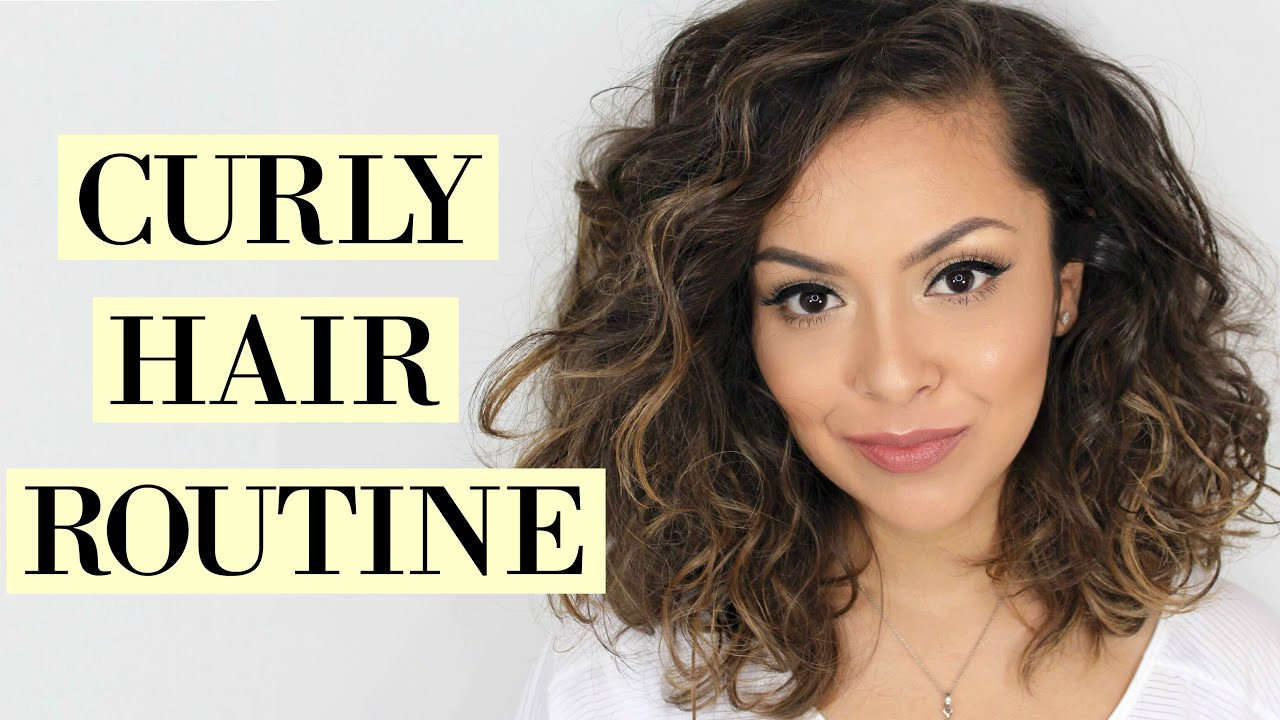 curly hair routine short