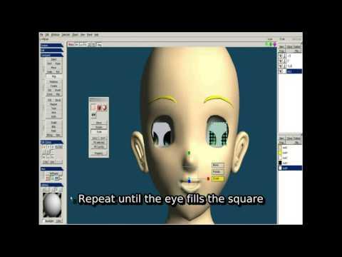 [TUTORIAL]Modelling textured eyes using Metasequoia LE