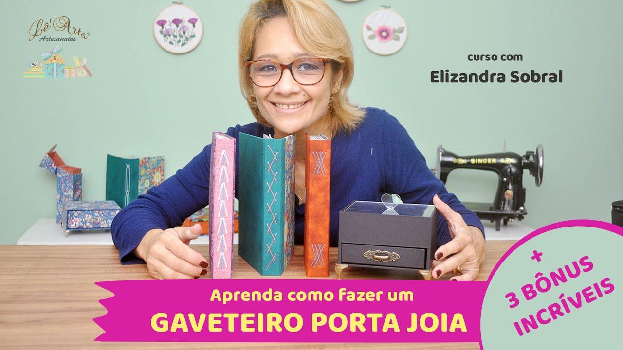Download APRENDA A FAZER UM LINDO PORTA JOIAS COM GAVETEIRO  + 3 BÔNUS INCRÍVEIS! CARTONAGEM E ENCADERNAÇÃO