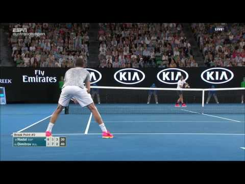 Dimitrov vs Nadal AO SF 2017 60FPS