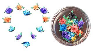 How To Make Small Paper Rose Flower - Handmade Craft DIY by Paper - Paper Crafts - কাগজের ফুল বানানো