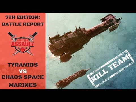 Tyranids vs Chaos Space Marines - Kill Team Battle Report