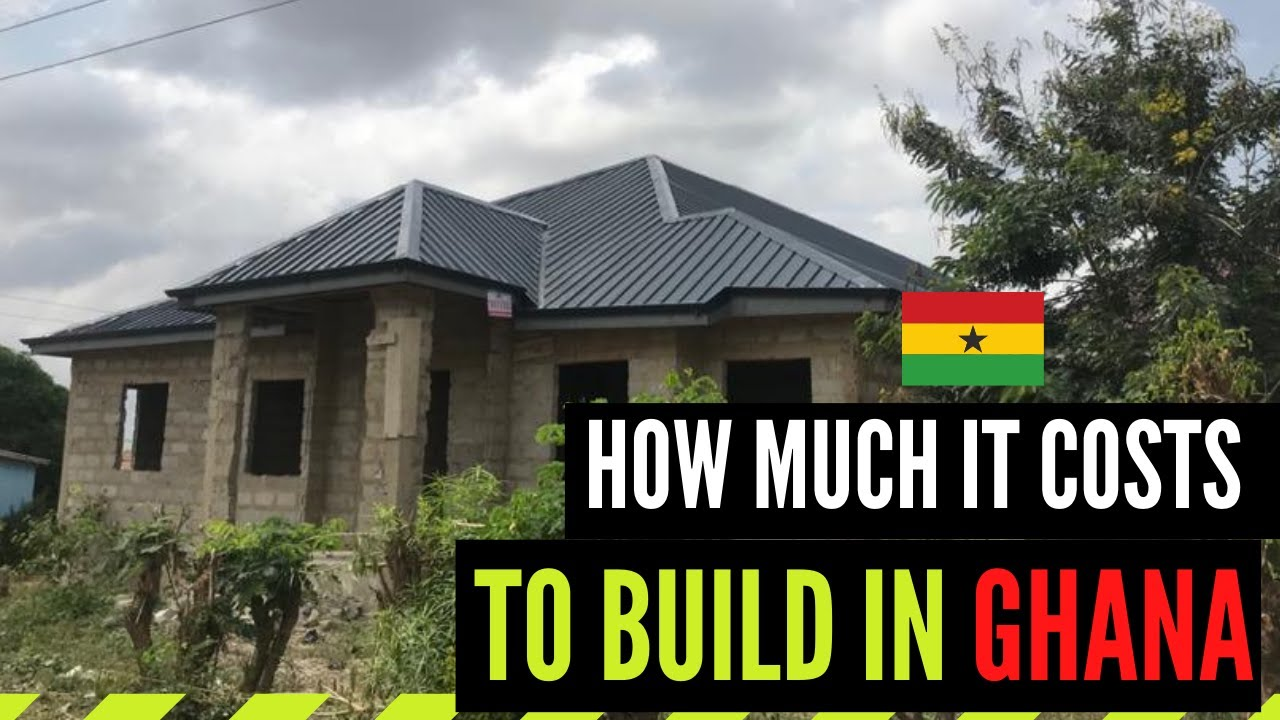 Cost Of Building A Five 5 Bedroom House In Ghana From Foundation To Roofing Single Story Youtube