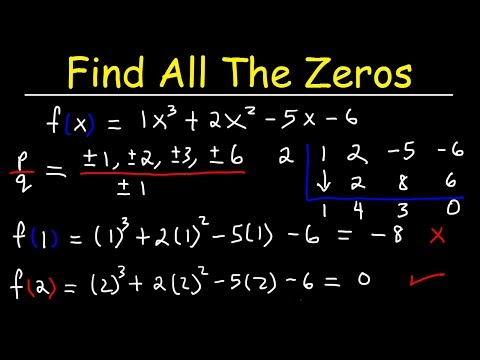 Finding All Zeros Of A Polynomial Function Using The Rational Zero Theorem