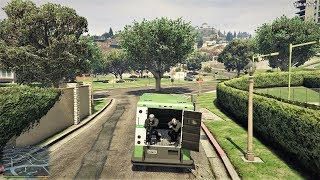 GTA 5 - Franklin, Michael and Trevor Five Star Escape From Rockford Hills Construction Site # 53