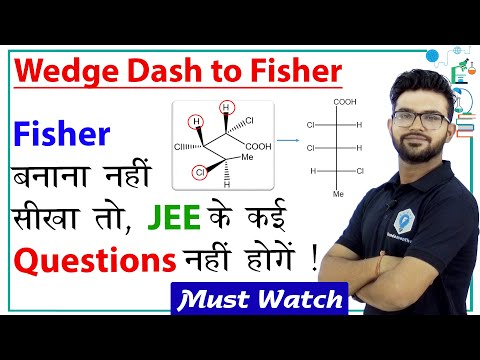 Tricks To Draw Fisher Diagram From Wedge Dash | Organic Chemistry