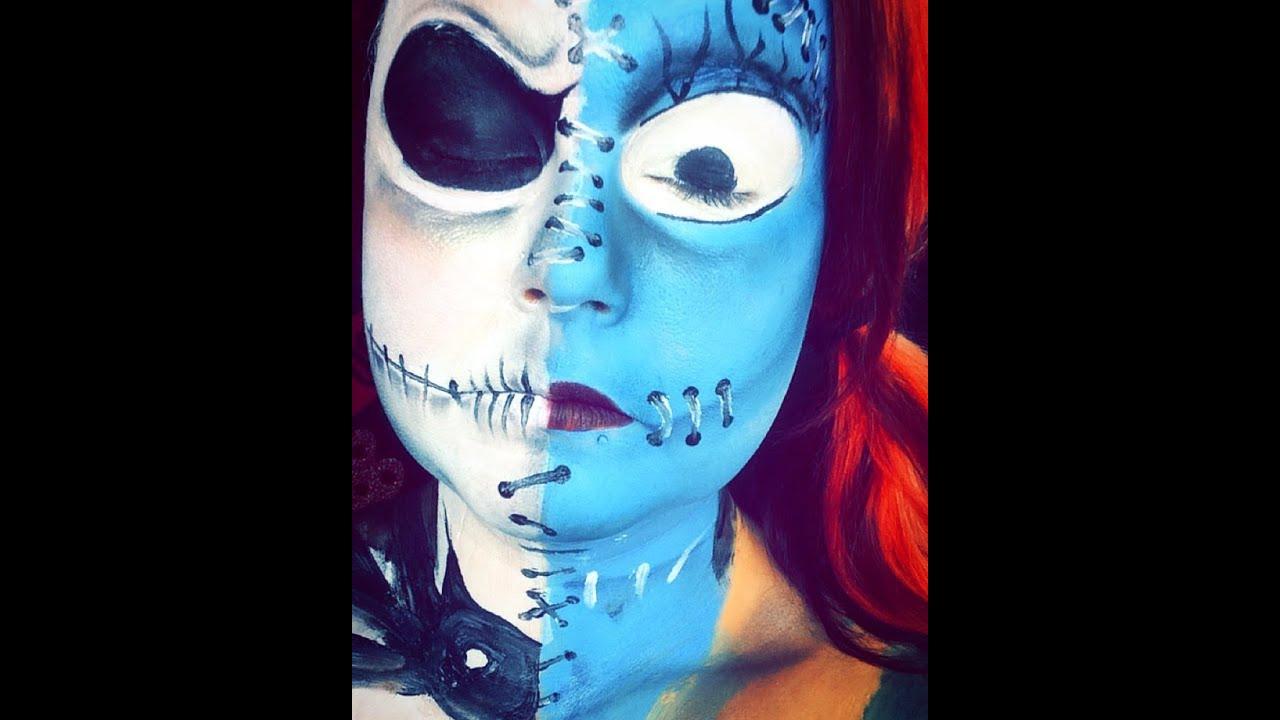 Nightmare Before Christmas Jack And Sally Halloween Makeup ...  The Nightmare Before Christmas Jack Makeup