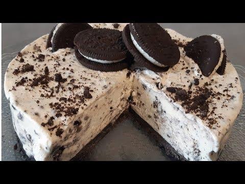 💞cheesecake-oreo/gâteau-sans-cuisson/تحضير-تيشز-كيك-بارد💞