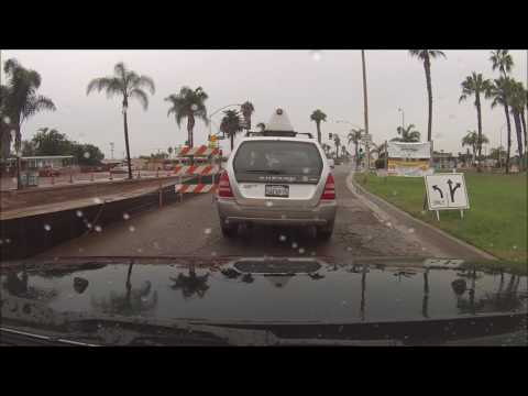 San Diego  Imperial Beach IB CA ambient rain sounds car sounds GoPro Hero 3