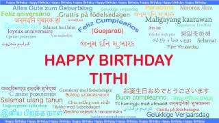 Tithi   Languages Idiomas - Happy Birthday