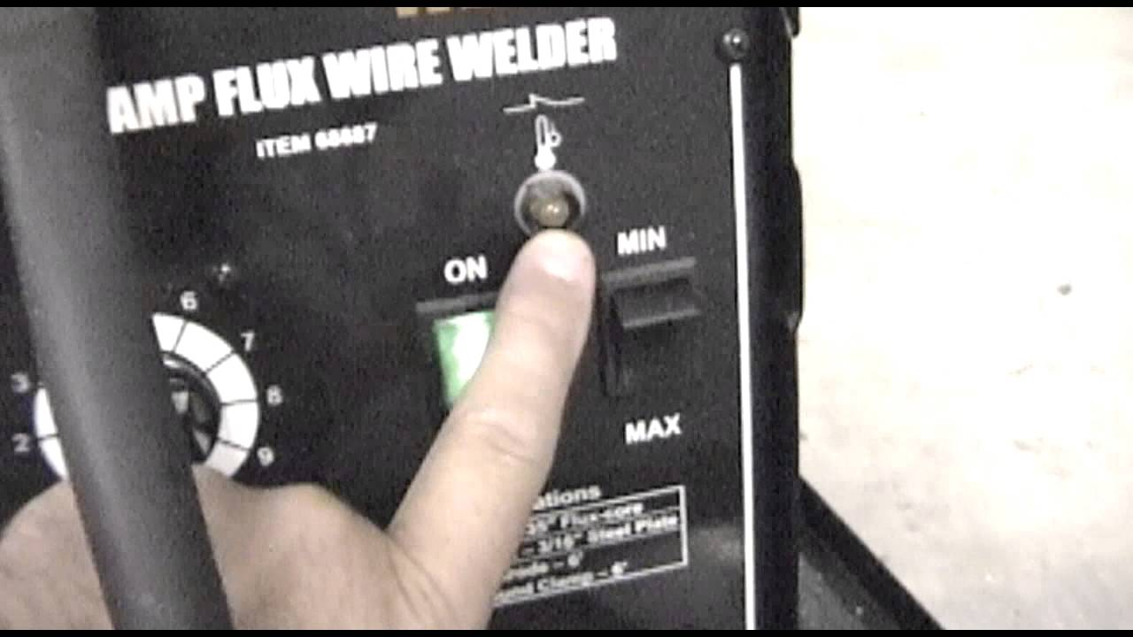 Harbor Freight 68887 120Volt 90 Amp Flux Core Wire Welder Review and ...
