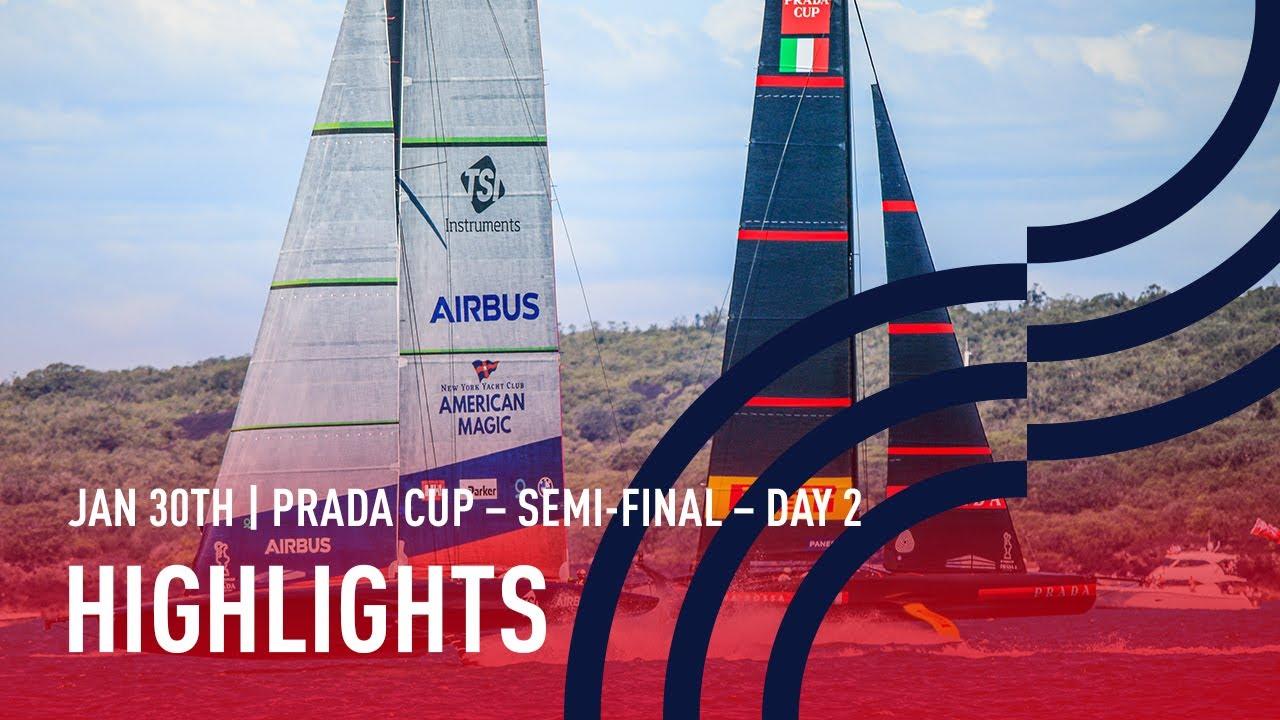 PRADA Cup Semi-Final Day 2 Highlights