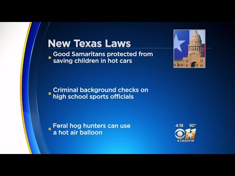 New Texas Laws Go In Effect Friday