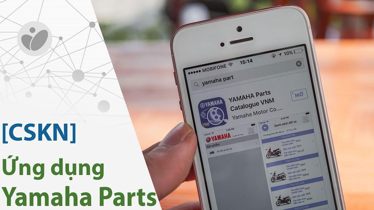 [CSKN] – Dò mã phụ tùng xe Yamaha bằng App trên điện thoại
