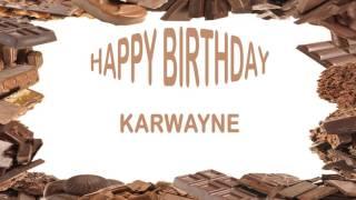 Karwayne   Birthday Postcards & Postales