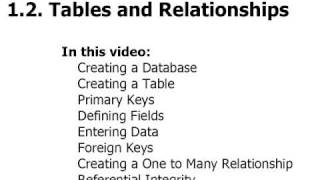 Access 2007 Tutorial 1.2. Tables And Relationships