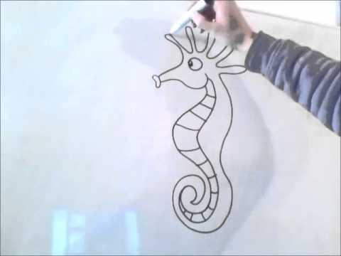 Как нарисовать морского конька