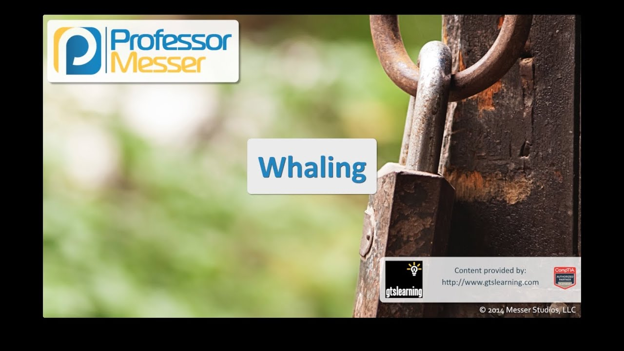 Whaling - CompTIA Security+ SY0-401: 3 3 | Professor Messer IT