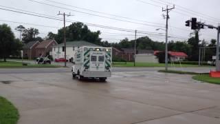 VA Beach Volunteer Rescue Squad Ambulance Responding Federal Q & Air Horn