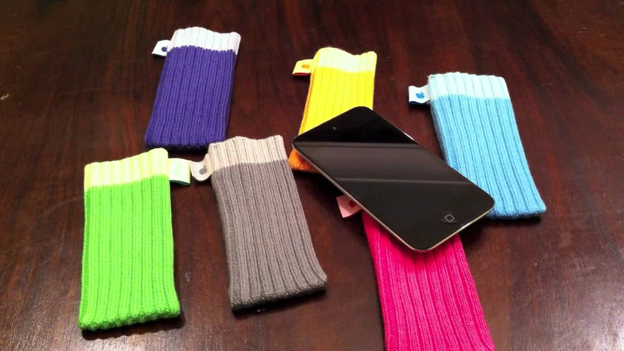 Knitting Pattern For Ipod Sock : Apple iPod Socks Unboxing - YouTube