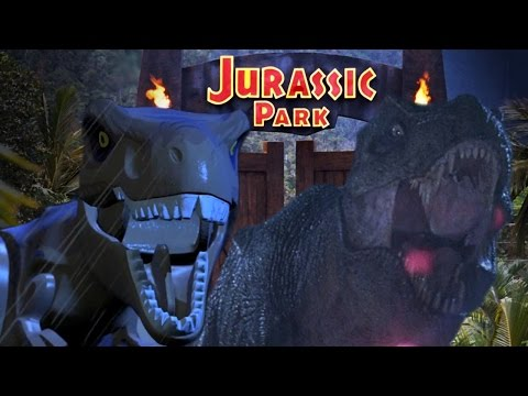 LEGO Jurassic World Trailer Remade with Jurassic Park Movie Footage - Side-by-Side Comparison