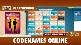 Codenames online playthrough - Virtual GridCon Game 1
