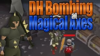 Dharok Bombing at Magical Axe Hut (OSRS)
