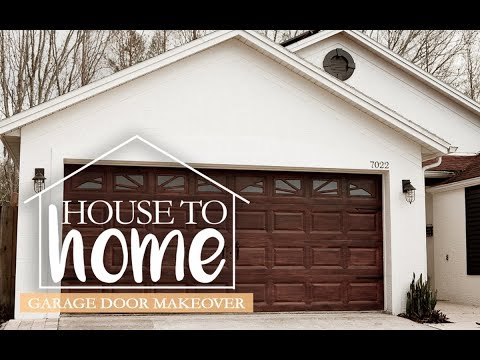 DIY Garage Door Makeover | Gel Stain Garage Door to Look Like Wood | House to Home