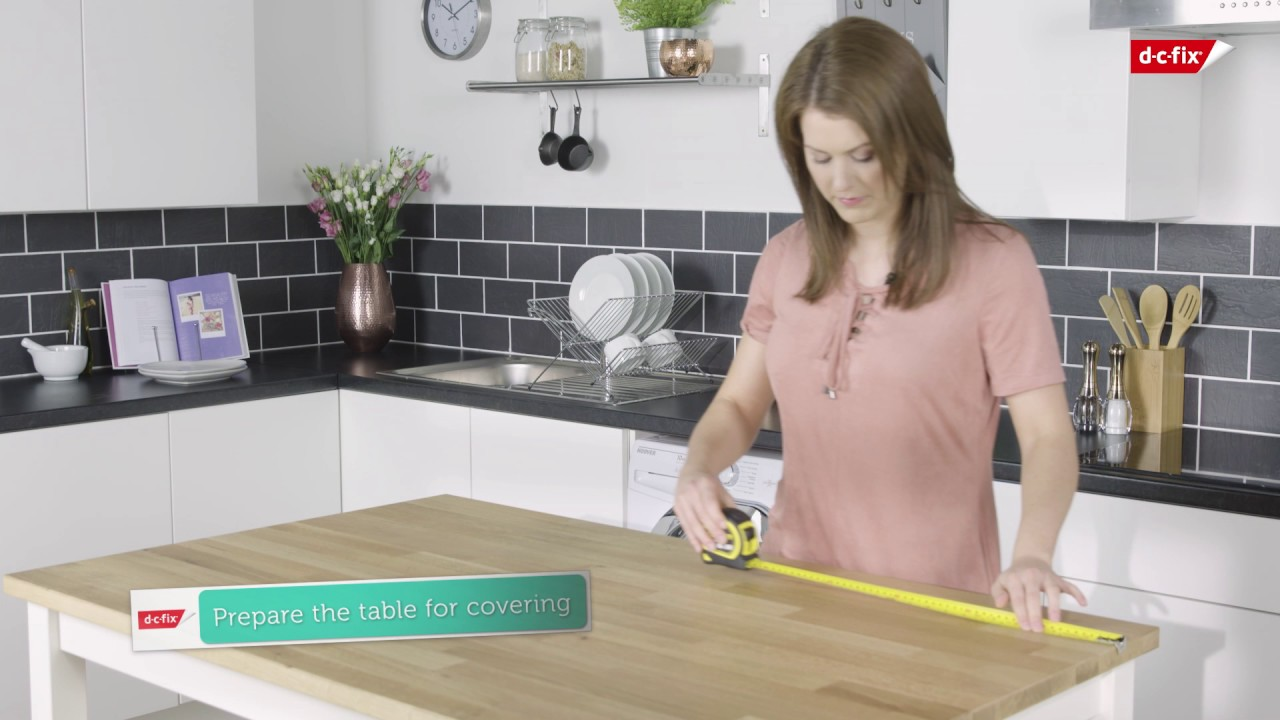 Applying Vinyl To A Kitchen Worktop Youtube