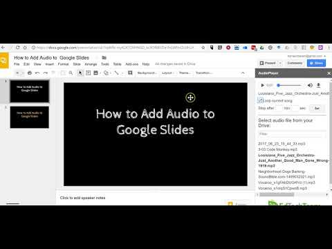 How to Add Audio to Google Slides With the AudioPlayer Add-on