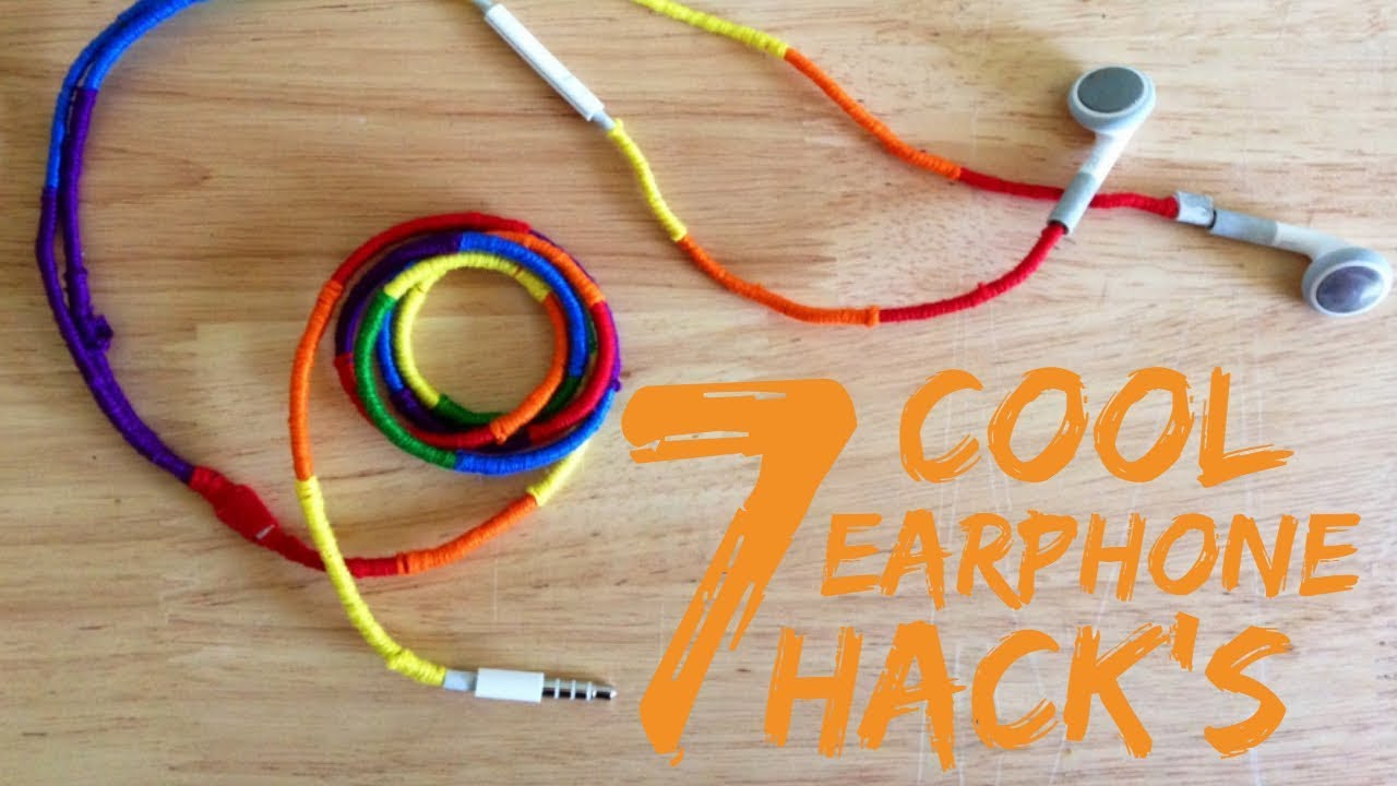 7 cool Ear Phone hacks || life hacks