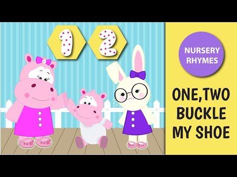 1, 2 Buckle My Shoe With Lyrics     Nursery Rhymes For Kids     Ultra HD 4K Video     HOORAY TV
