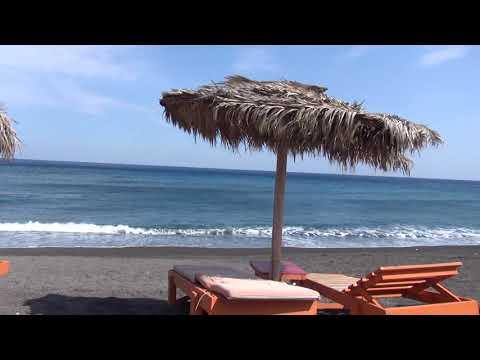Perissa beach, Santorini,