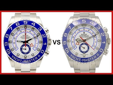 ▶ NEW 2017 Rolex Yacht-Master II vs OLD YachtMaster 2 - COMPARISON