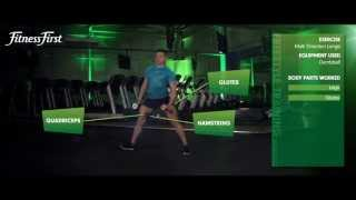 Fitness First Freestyle exercise - Multi Direction Lunge - Dumbbell