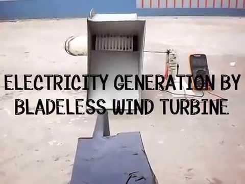 Electricity Generation By Bladeless Wind Turbine Youtube