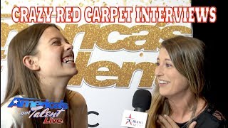 AMERICAS GOT TALENT | LIVE ON THE RED CARPET | HOWIE MANDEL GOLDEN BUZZER COURTNEY HADWIN